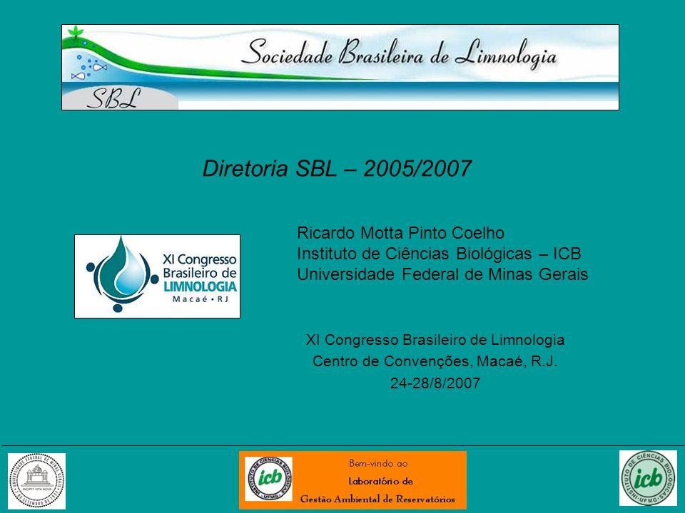 Diretoria SBL – 2005/2007 Ricardo Motta Pinto Coelho