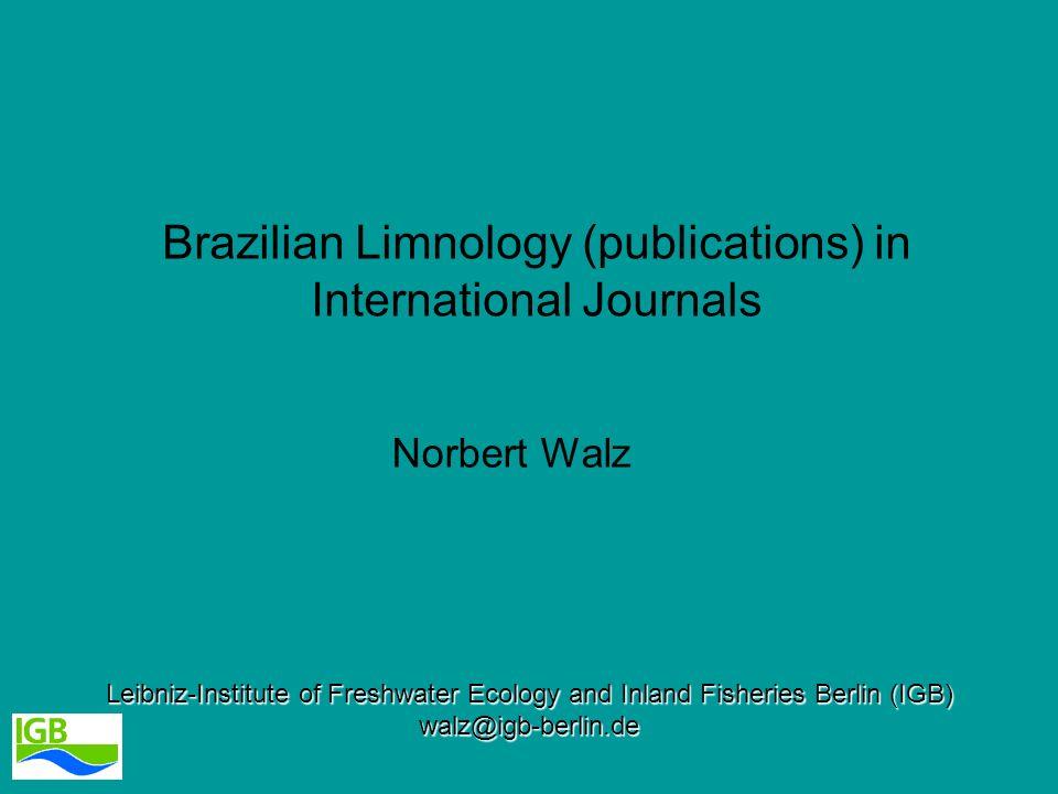 Brazilian Limnology (publications) in International Journals