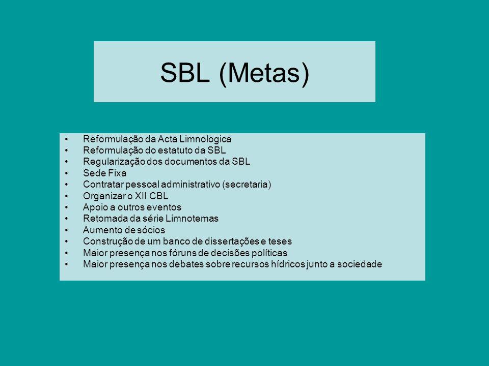 SBL (Metas) Reformulação da Acta Limnologica