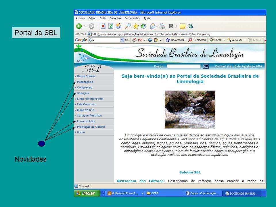 Portal da SBL Novidades