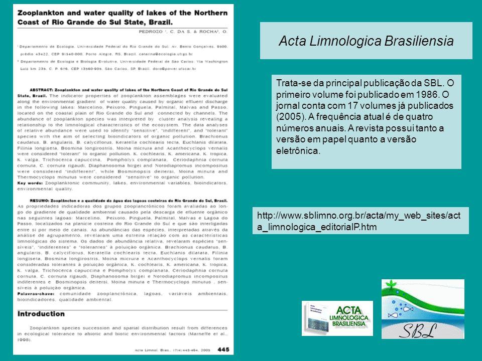 Acta Limnologica Brasiliensia