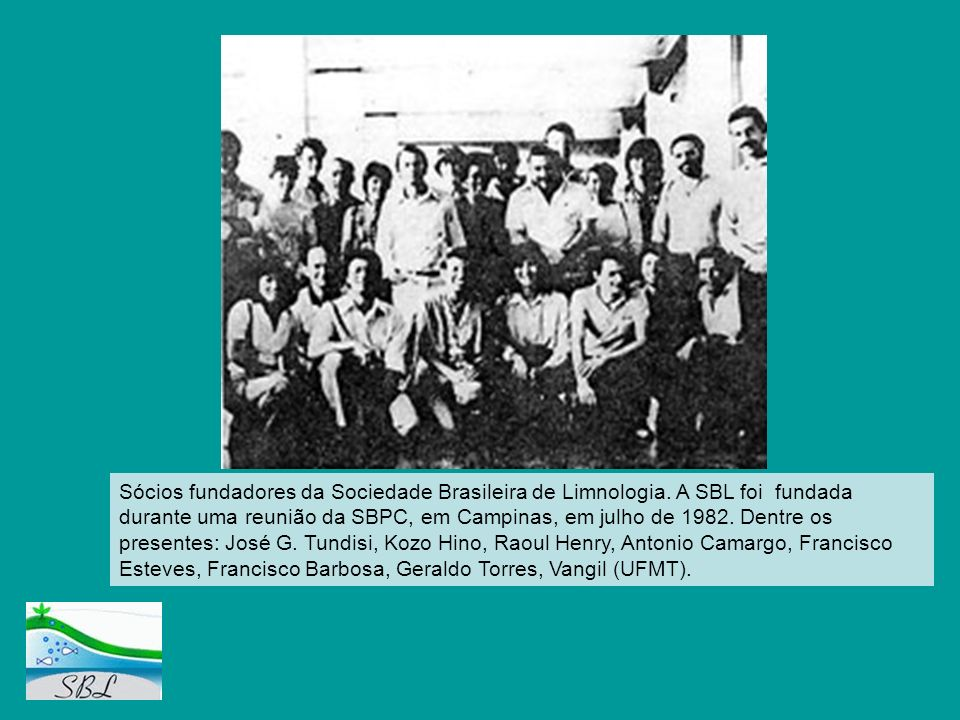 Sócios fundadores da Sociedade Brasileira de Limnologia