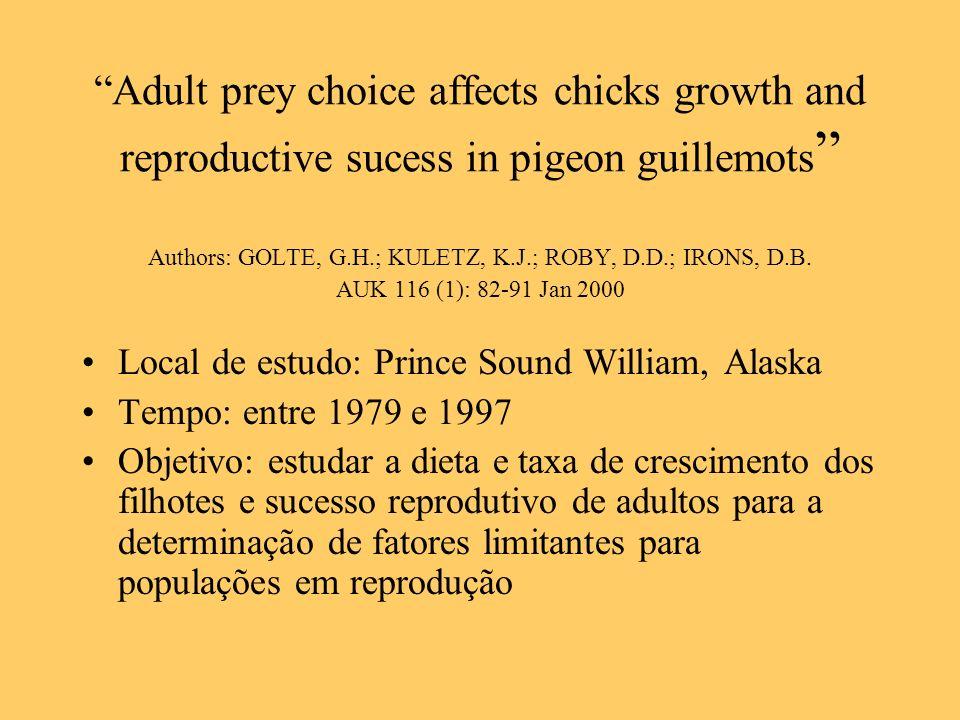Authors: GOLTE, G.H.; KULETZ, K.J.; ROBY, D.D.; IRONS, D.B.