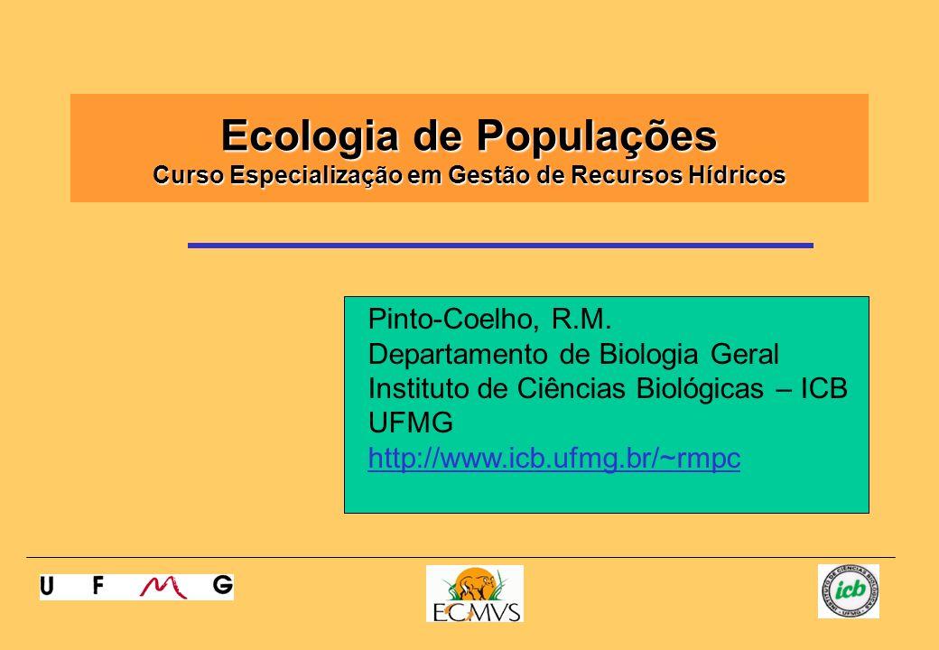 Ecologia de Populações Curso Especialização em Gestão de Recursos Hídricos