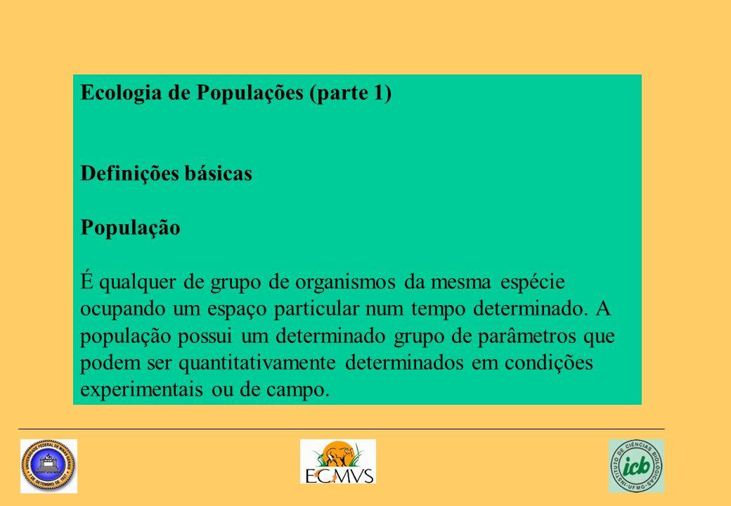 Ecologia de Populações (parte 1)