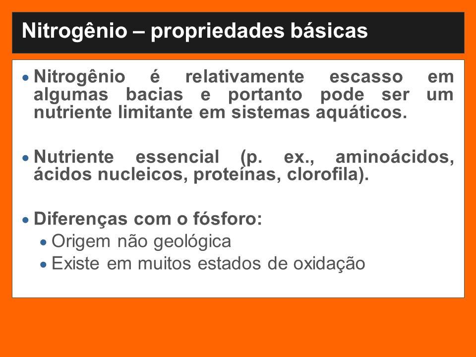 Nitrogênio – propriedades básicas