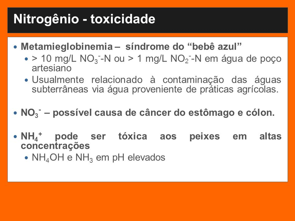 Nitrogênio - toxicidade