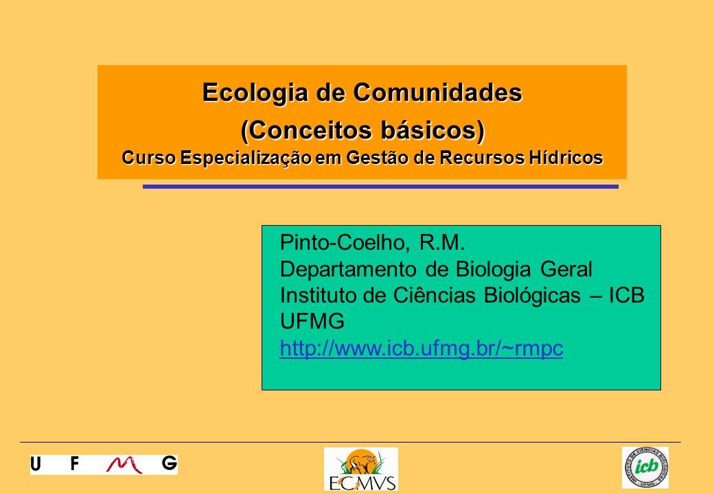 Ecologia de Comunidades (Conceitos básicos) Curso Especialização em Gestão de Recursos Hídricos