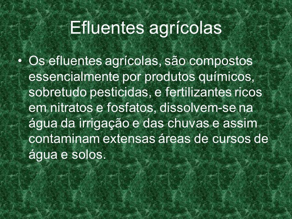 Efluentes agrícolas