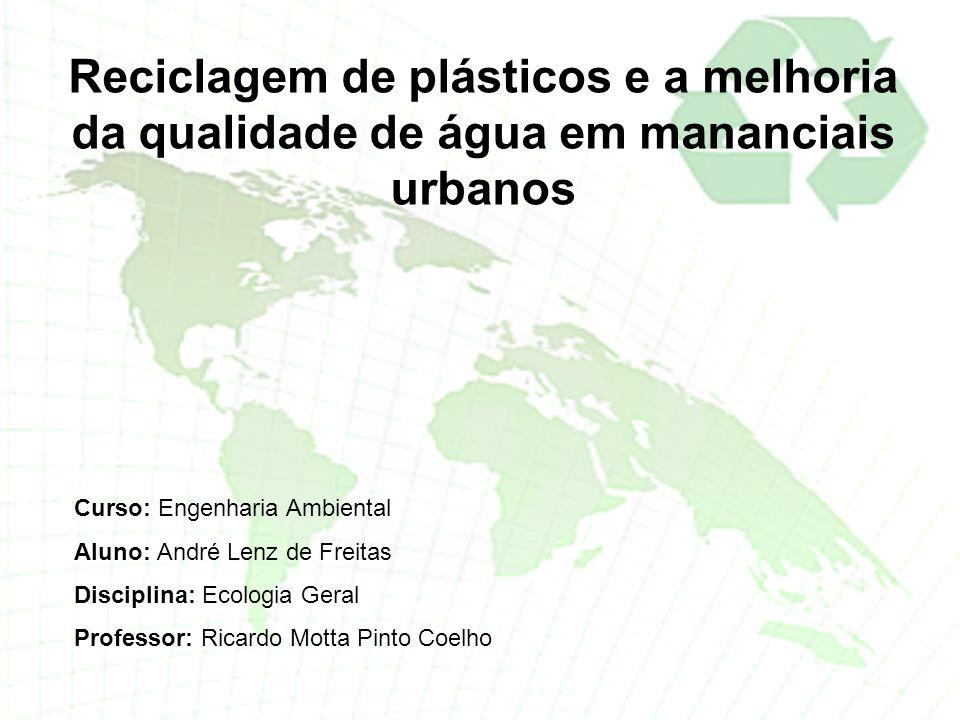 Reciclagem de plásticos e a melhoria da qualidade de água em mananciais urbanos