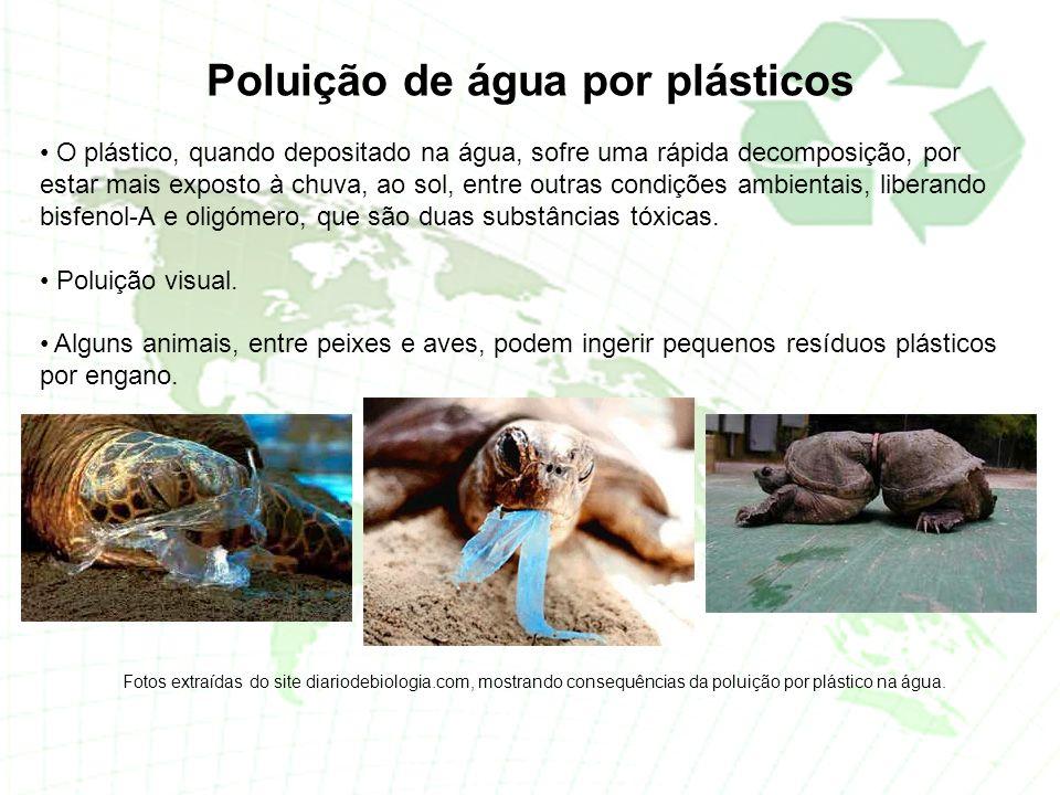 Poluição de água por plásticos