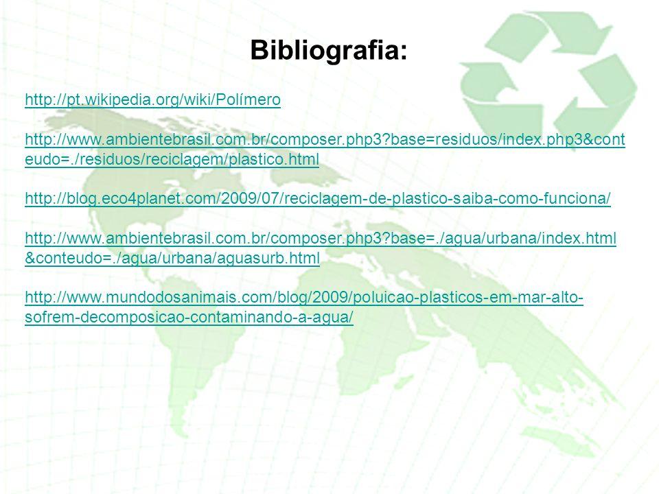 Bibliografia: http://pt.wikipedia.org/wiki/Polímero