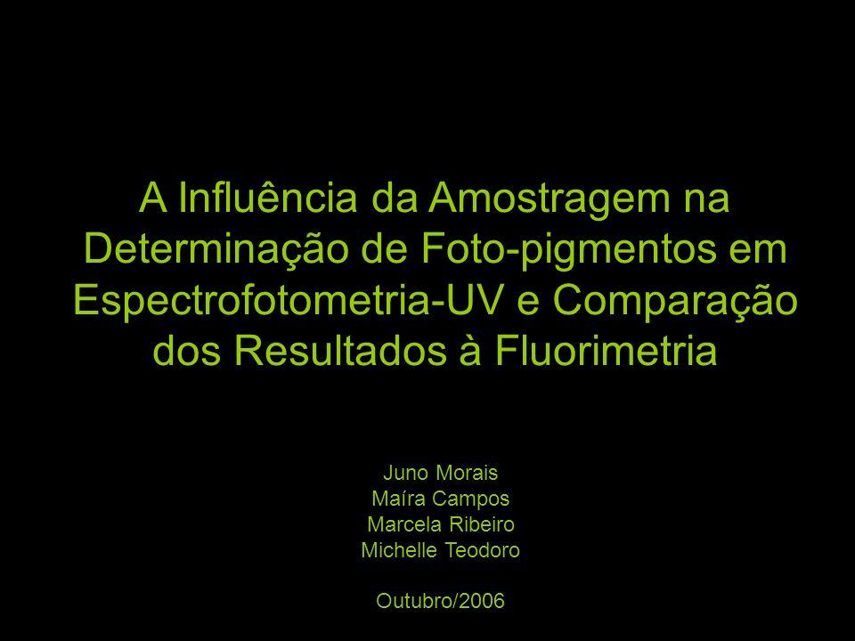 A Influência da Amostragem na Determinação de Foto-pigmentos em Espectrofotometria-UV e Comparação dos Resultados à Fluorimetria