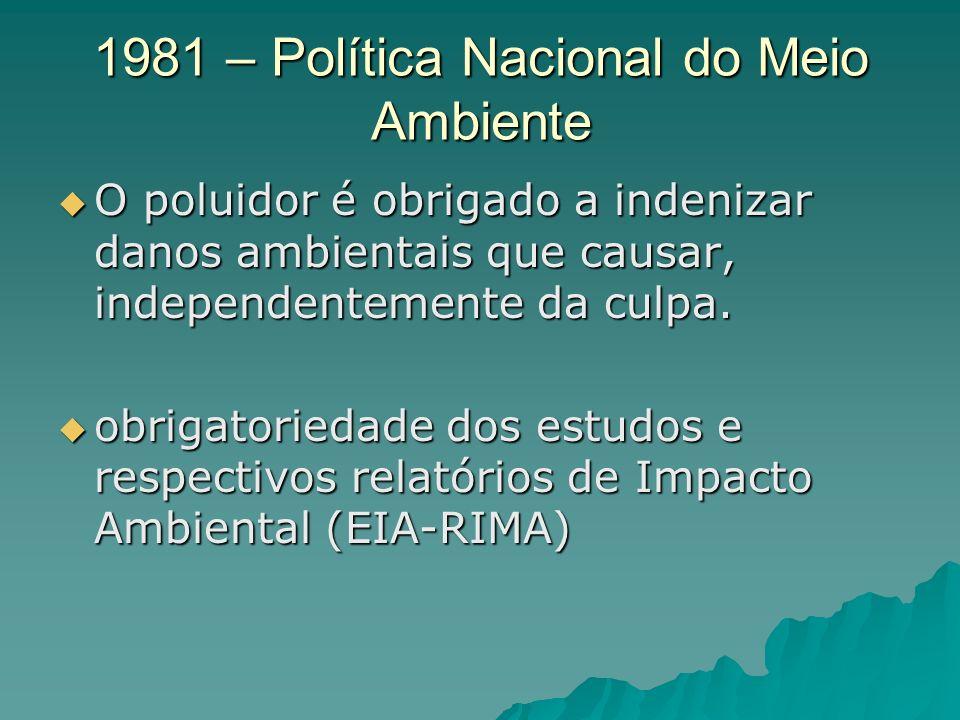 1981 – Política Nacional do Meio Ambiente