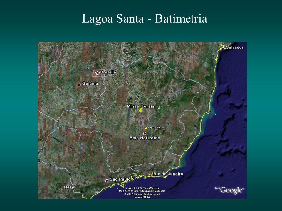 Lagoa Santa - Batimetria