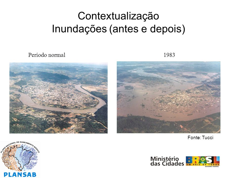 Contextualização Inundações (antes e depois)