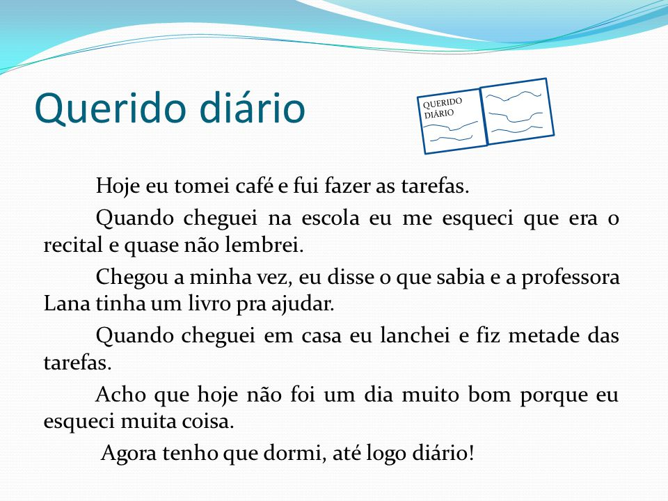 Querido diário QUERIDO DIÁRIO.