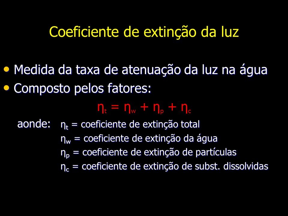Coeficiente de extinção da luz