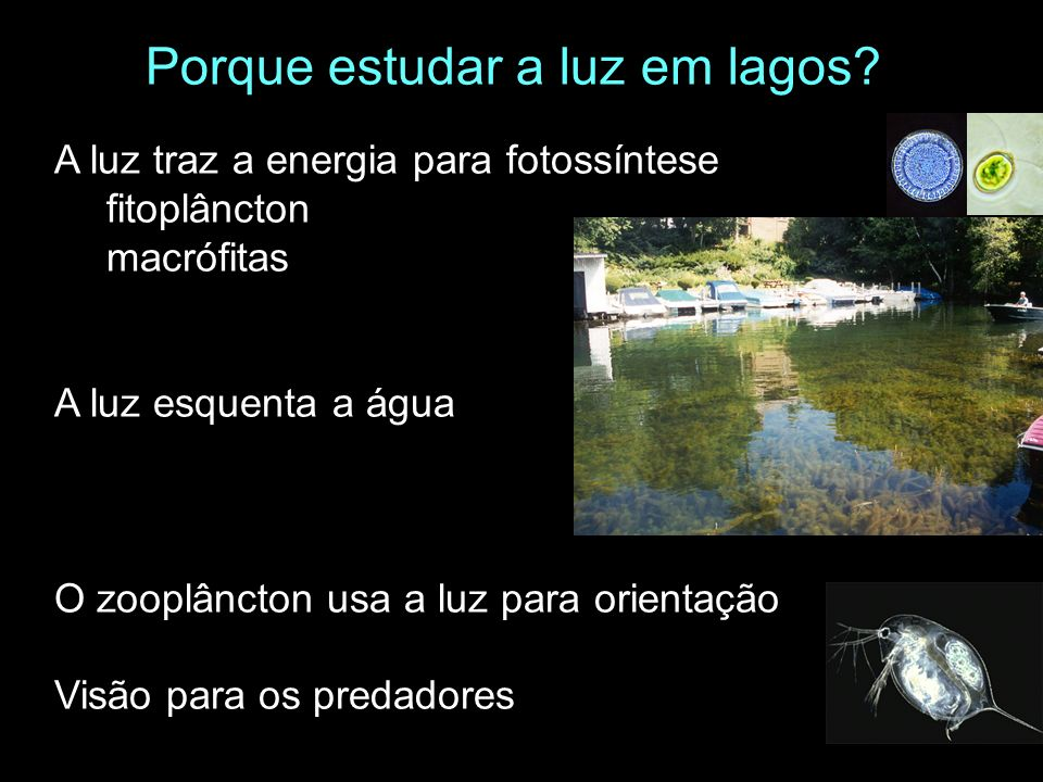Porque estudar a luz em lagos
