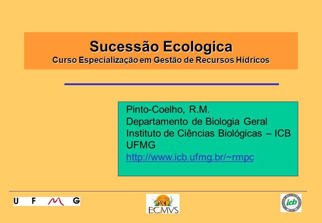 Sucessão Ecologica Curso Especialização em Gestão de Recursos Hídricos