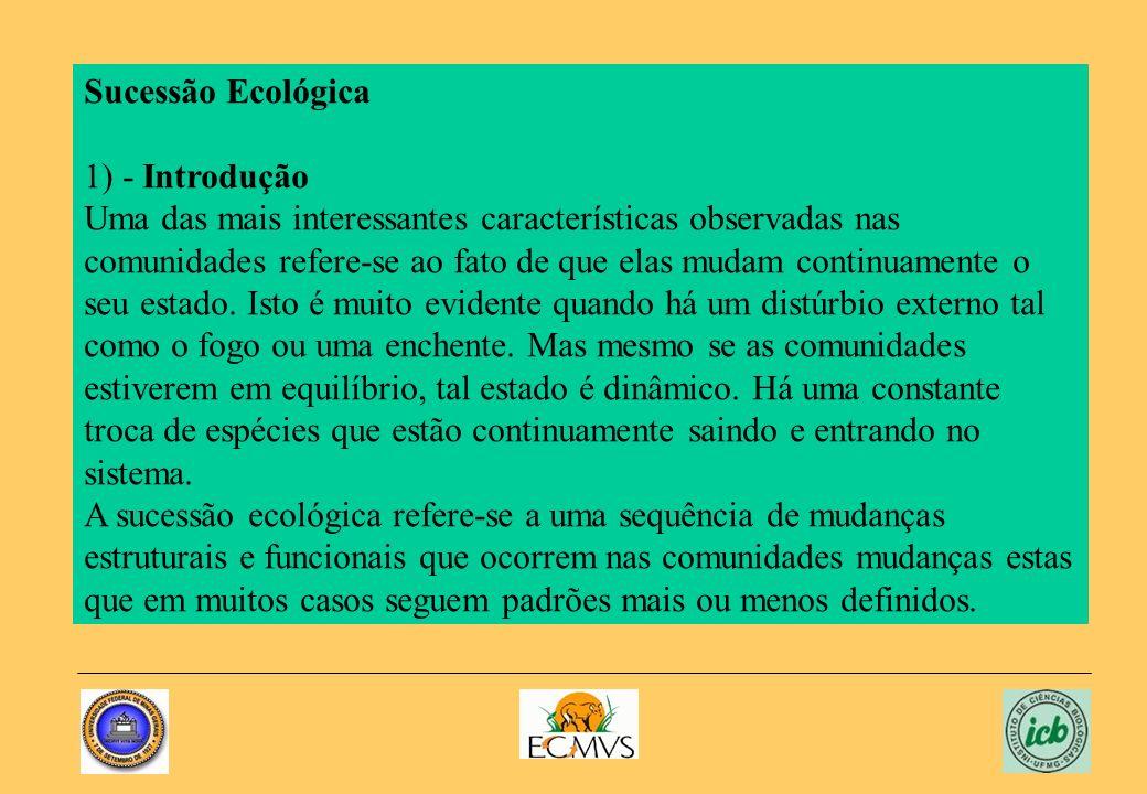 Sucessão Ecológica1) - Introdução.