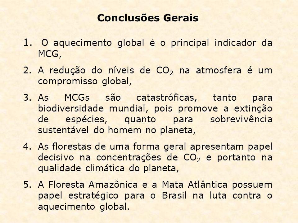 O aquecimento global é o principal indicador da MCG,