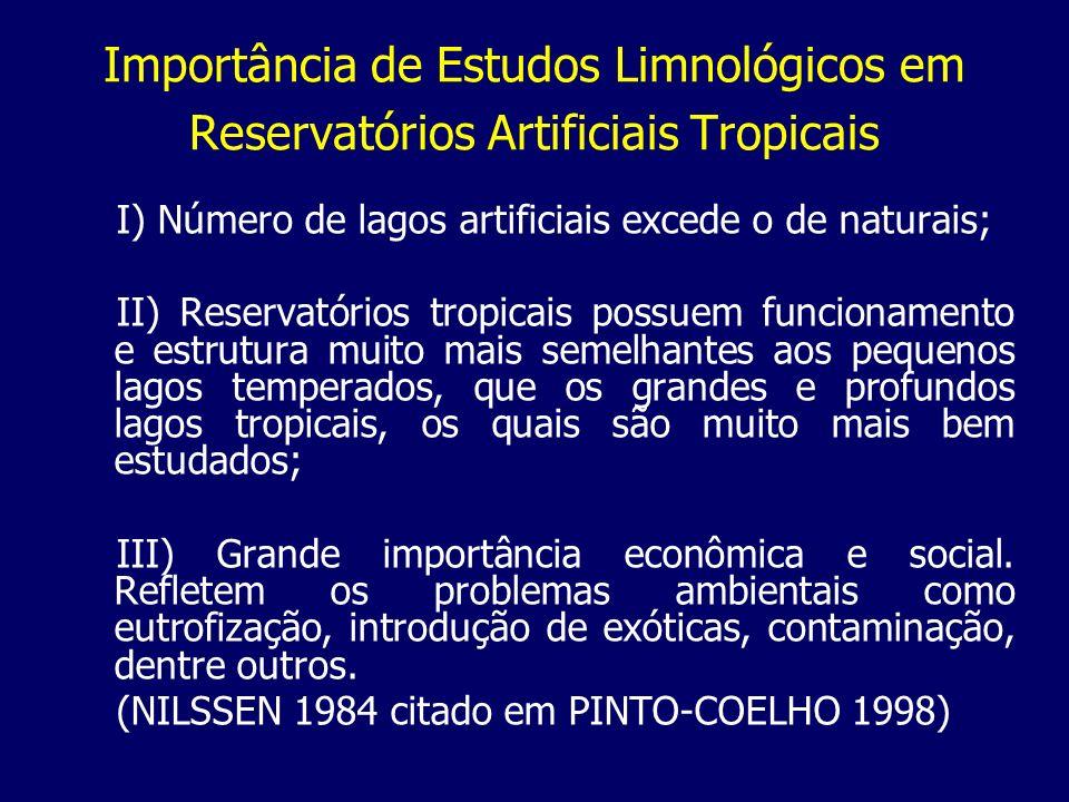 Importância de Estudos Limnológicos em Reservatórios Artificiais Tropicais