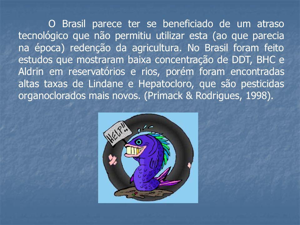 O Brasil parece ter se beneficiado de um atraso tecnológico que não permitiu utilizar esta (ao que parecia na época) redenção da agricultura.