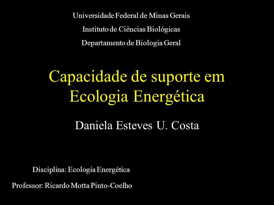 Capacidade de suporte em Ecologia Energética