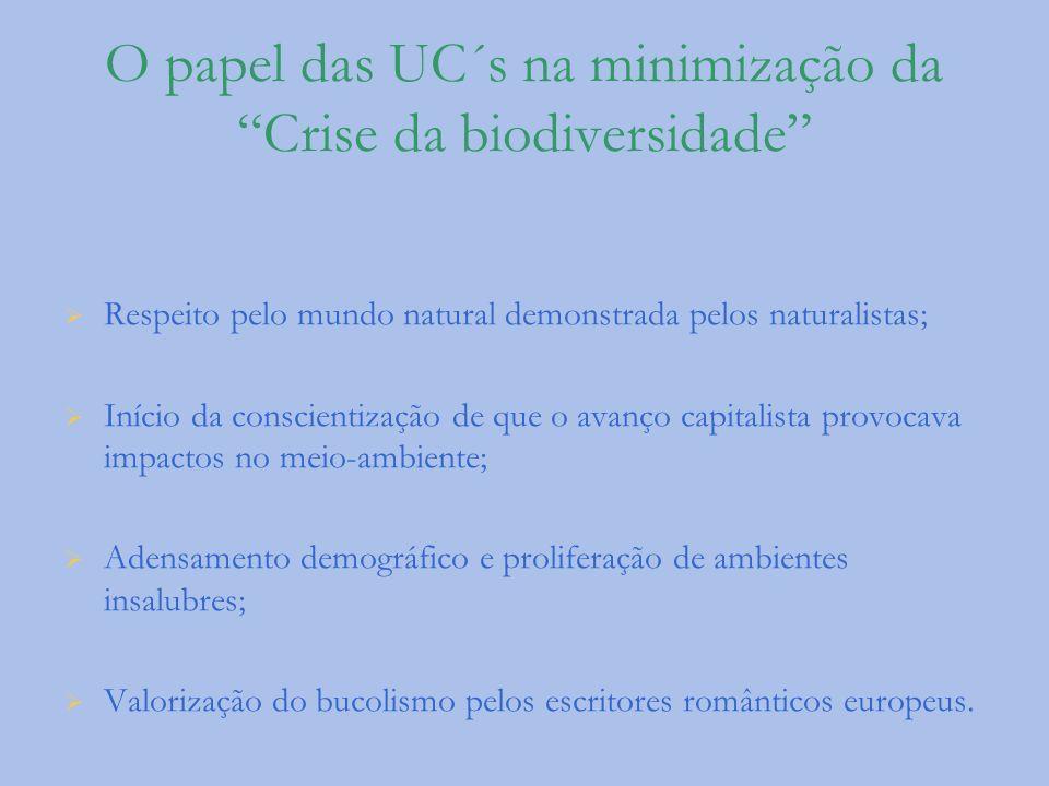 O papel das UC´s na minimização da Crise da biodiversidade