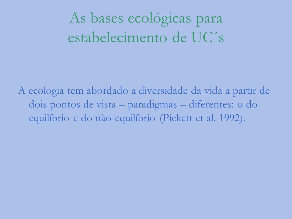 As bases ecológicas para estabelecimento de UC´s