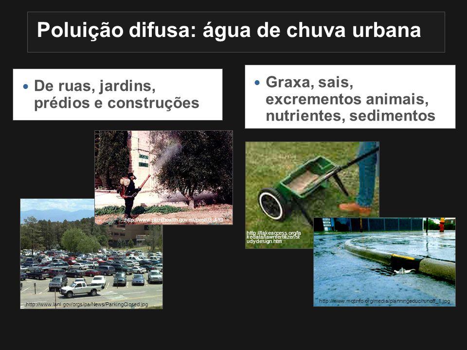 Poluição difusa: água de chuva urbana