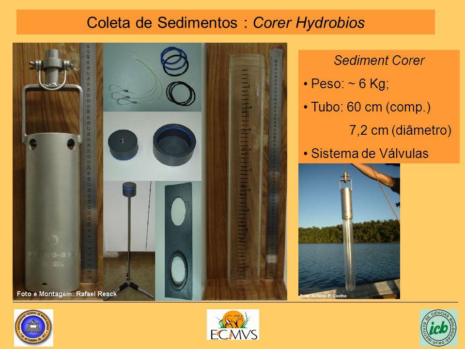 Coleta de Sedimentos : Corer Hydrobios