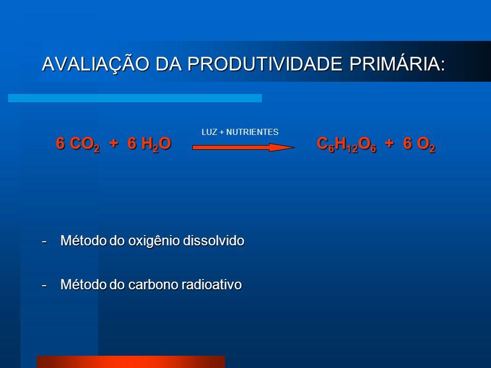 AVALIAÇÃO DA PRODUTIVIDADE PRIMÁRIA: