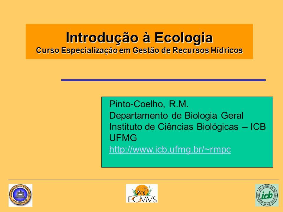 Introdução à Ecologia Curso Especialização em Gestão de Recursos Hídricos