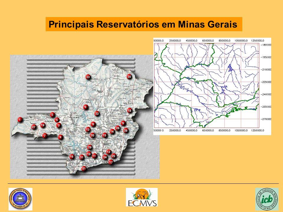 Principais Reservatórios em Minas Gerais