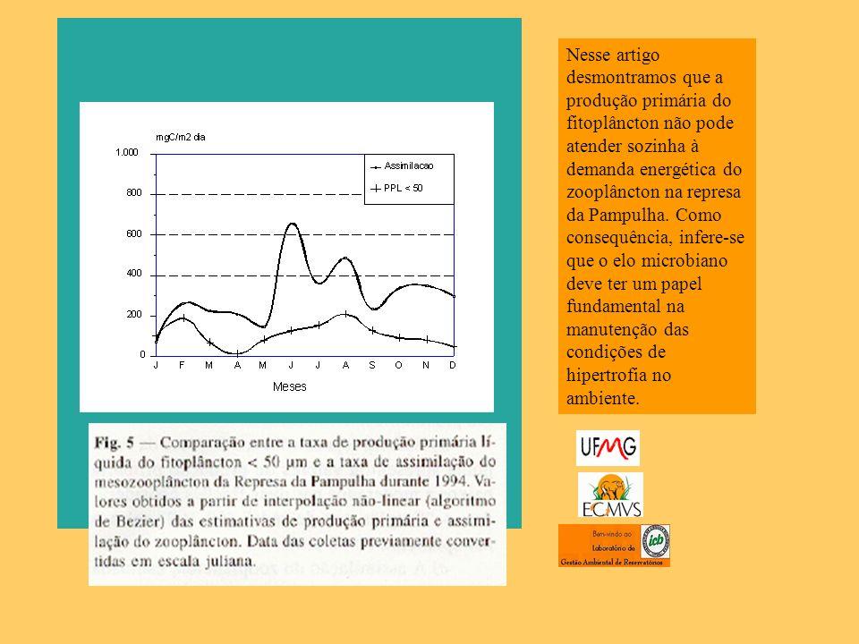 Nesse artigo desmontramos que a produção primária do fitoplâncton não pode atender sozinha à demanda energética do zooplâncton na represa da Pampulha.