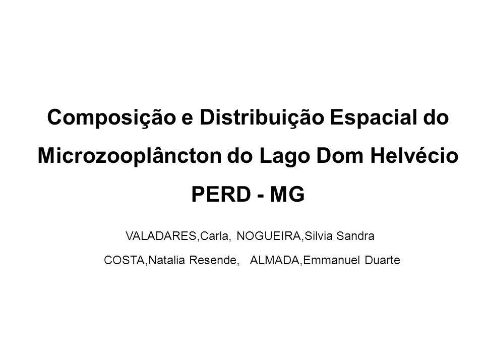 Composição e Distribuição Espacial do Microzooplâncton do Lago Dom Helvécio PERD - MG