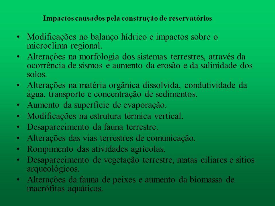 Impactos causados pela construção de reservatórios