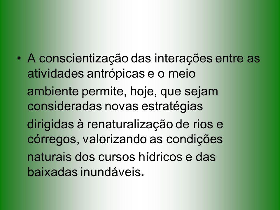 A conscientização das interações entre as atividades antrópicas e o meio