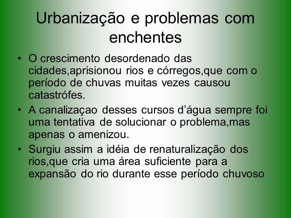 Urbanização e problemas com enchentes