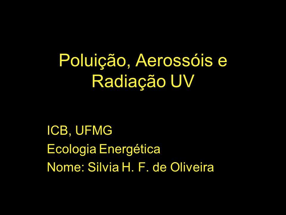 Poluição, Aerossóis e Radiação UV