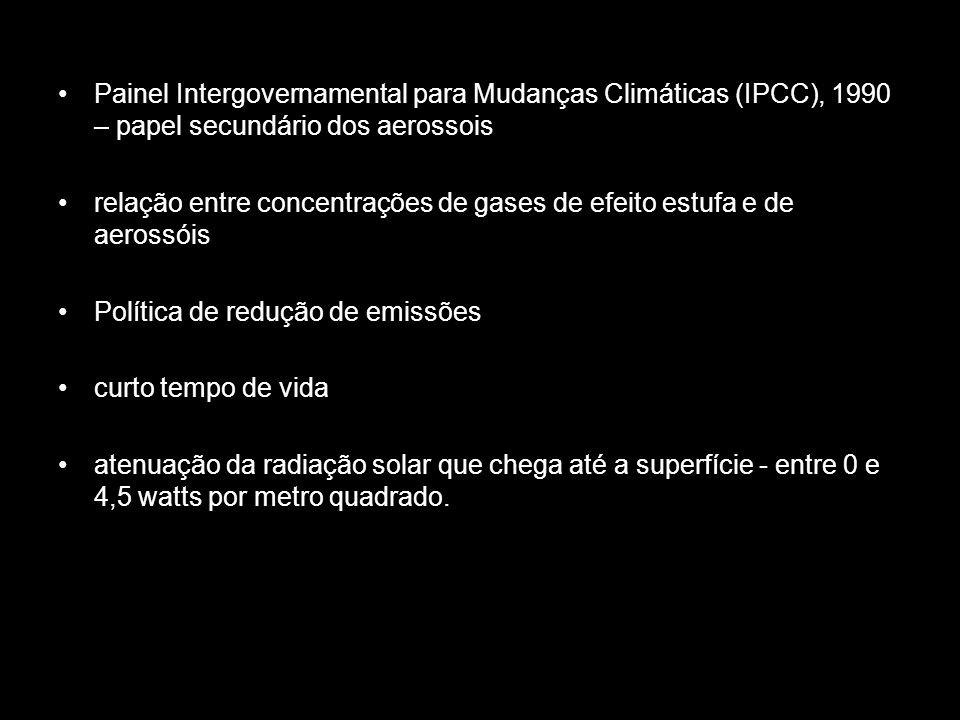 Painel Intergovernamental para Mudanças Climáticas (IPCC), 1990 – papel secundário dos aerossois