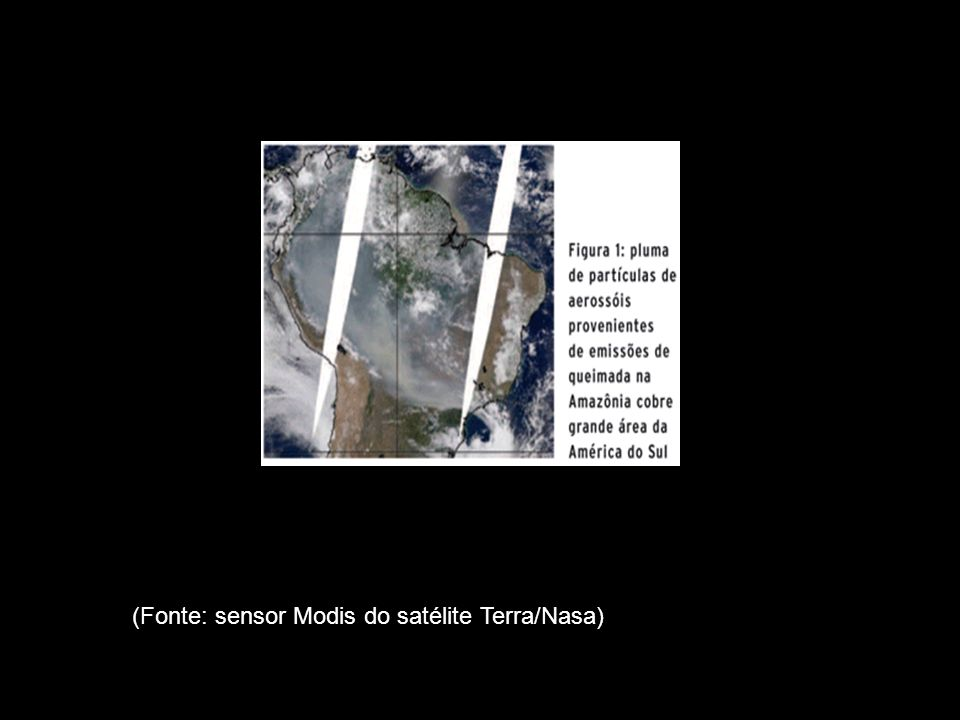 (Fonte: sensor Modis do satélite Terra/Nasa)