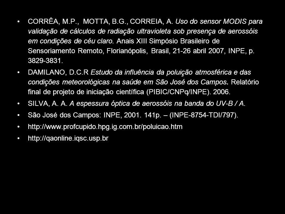 CORRÊA, M. P. , MOTTA, B. G. , CORREIA, A