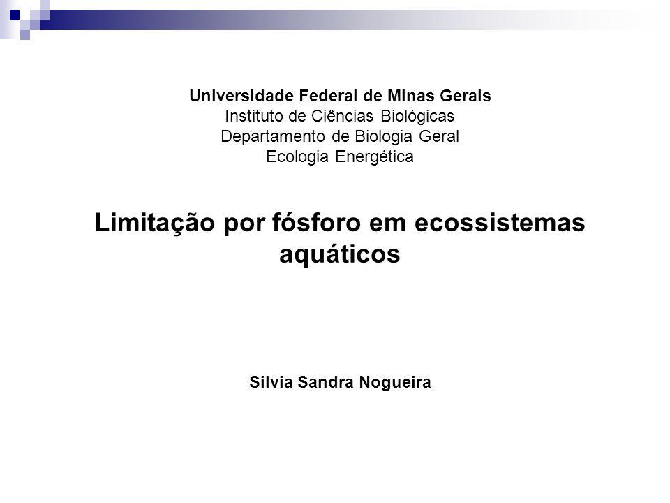 Limitação por fósforo em ecossistemas aquáticos