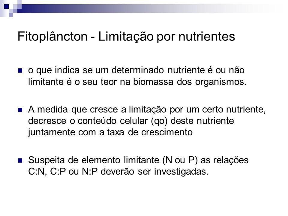 Fitoplâncton - Limitação por nutrientes
