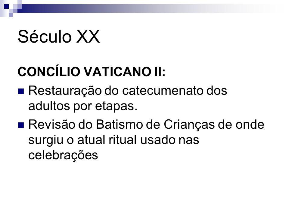 Século XX CONCÍLIO VATICANO II: