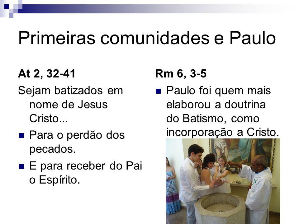 Primeiras comunidades e Paulo