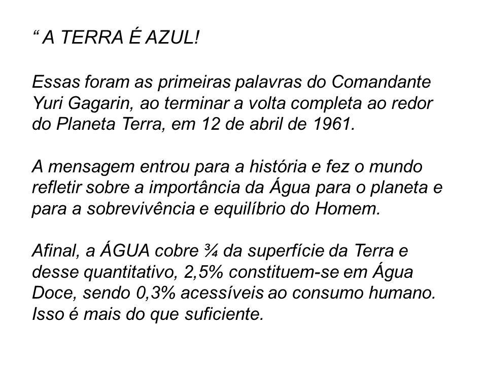 A TERRA É AZUL!